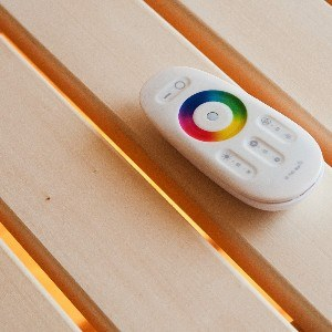 LED controller for sauna